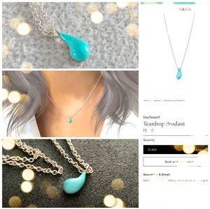 Tiffany & Co. turquoise teardrop Peretti necklace